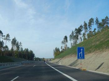 Zhruba po dvou kilometrech jízdy na sever dálnice končí. Autor: Zdopravy.cz/Jan Šindelář
