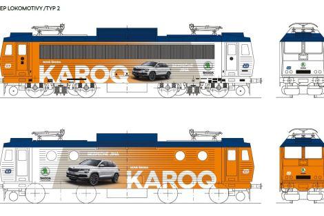 Vizualizace reklamního polepu pro lokomotivu 363. Foto: Škoda Auto