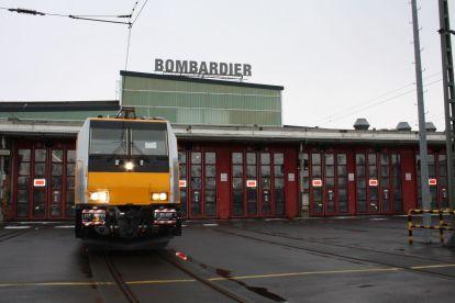 Traxx v barvách RegioJetu v závodě v německém Kasselu. Foto: Bombardier