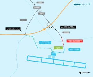 Schéma nového připojení brněnského letiště. Foto: Letiště Brno