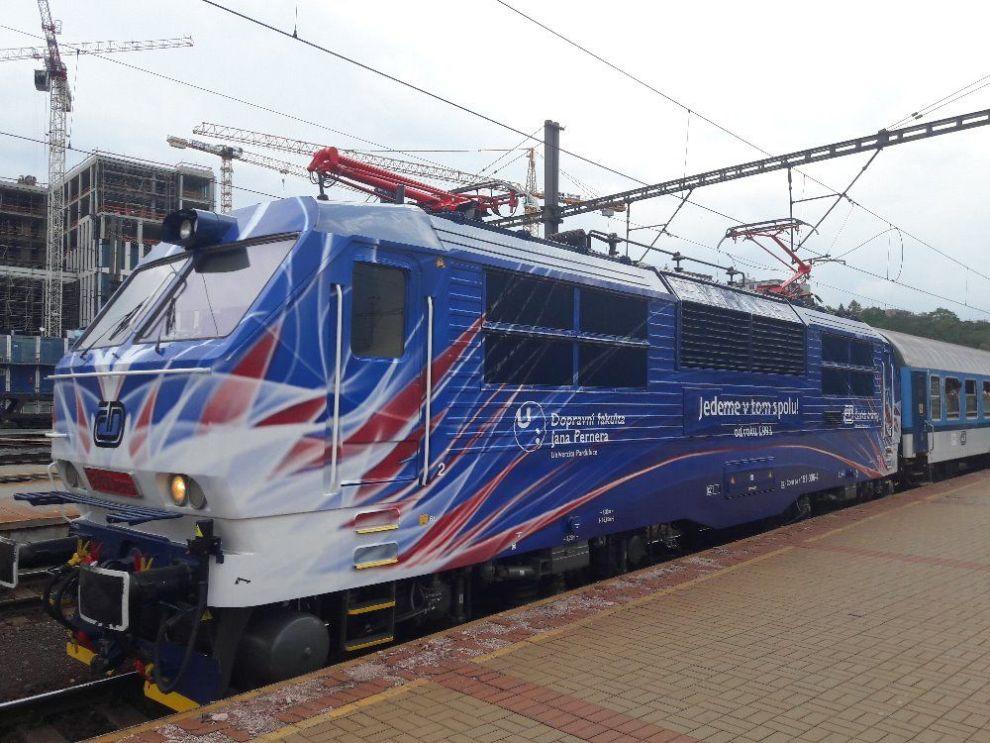 Lokomotiva 151.006-4 v novém polepu. Autor: České dráhy
