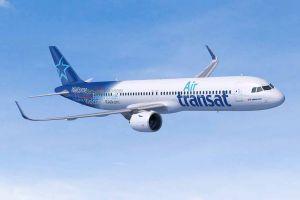 Airbus A321LR v barvách Air Transat. Vizualizace: Airbus