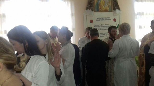 16 березня 2017 р. Б. в каплиці Івано-Франківського міського клінічного пологового будинку відбулося Таїнство Соборування