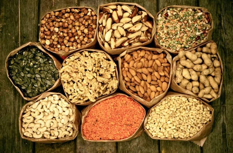 orašasto povrće i sjemenke