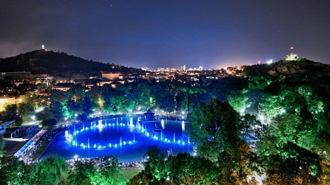 пеещи фонтани в Пловдив