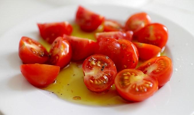 домати със зехтин