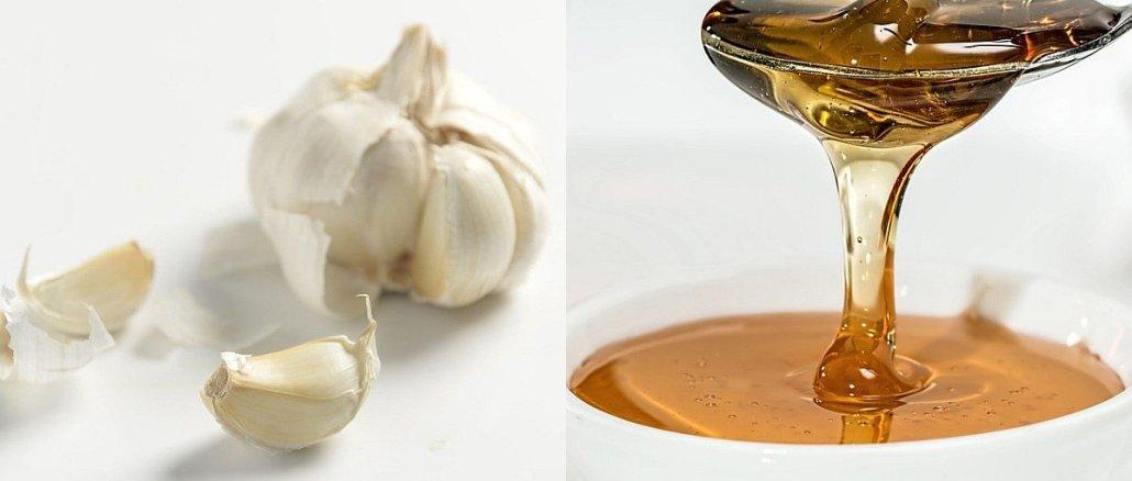 чесън и мед
