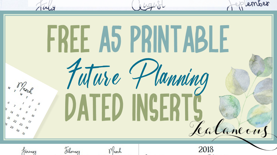 2018 Future Planning Insert Free Printable Half Letter from Zealaneous