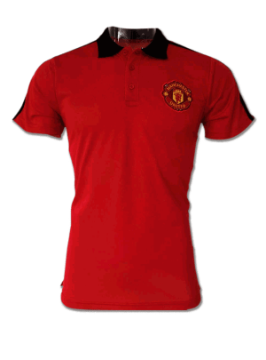 Manchester-United-Red-Color-Black-Collar-Polo-T-Shirt