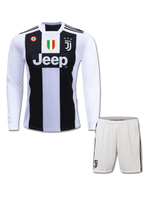 Juventus-Long-Sleeves-Football-Jersey-And-Shorts-Home-18-19-Season