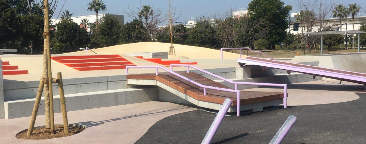 舞浜スケートパークの全体写真