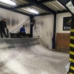 FUGスケートパークにあるミニランプ