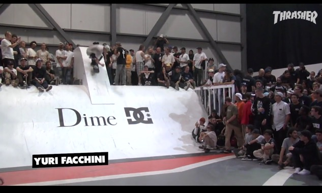 Dime Glory Challenge Yuri Facchini Photo from Thrasher YouTube