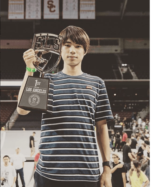 2018 Street League Skateboarding lLos Angels Won Auto Horigome