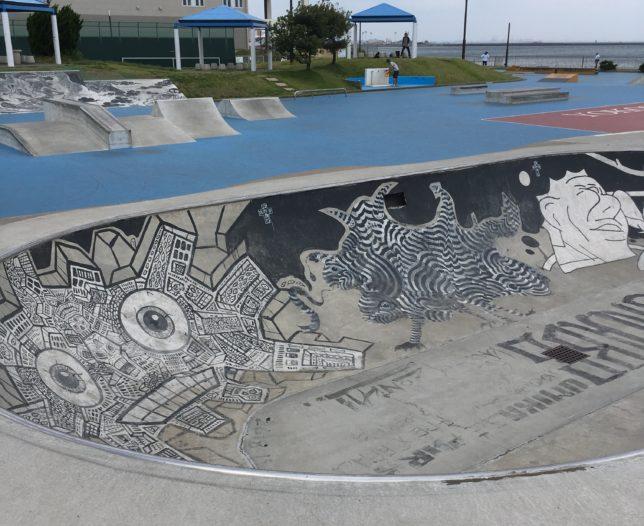 Umikaze Kouen Skate Park Bowl