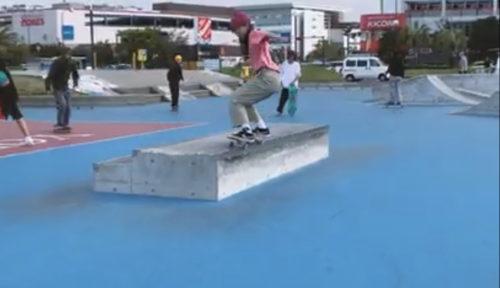 Girls Skater in Umikaze Skate Park in Yokosuka Kanagawa