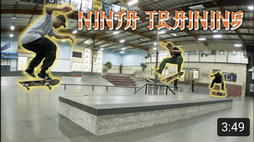 The Berrics Ninja Training Heel Flip