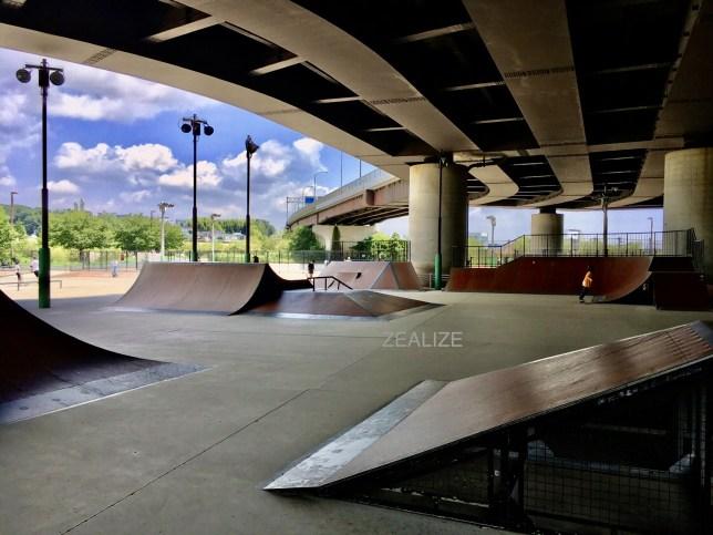 Shinyokohama skate park Wood Section