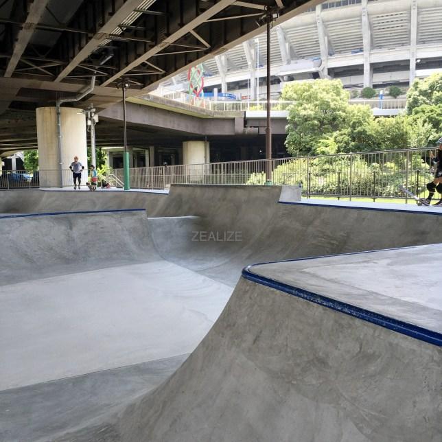Shinyokohama skate park Bowl Section