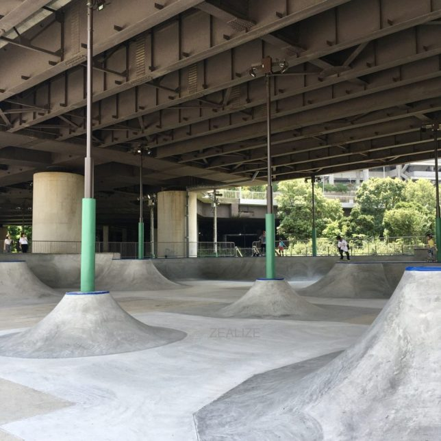 Shinyokohama skate park Bowl Section