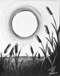 April 10 – Bulrush Silhouette – Painting pARTy