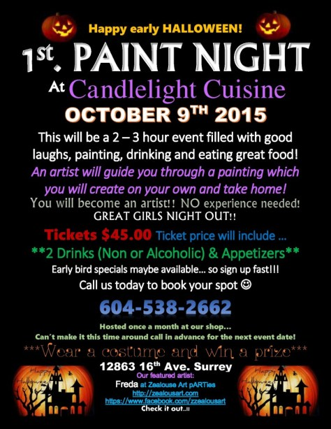 paint night - october 9th