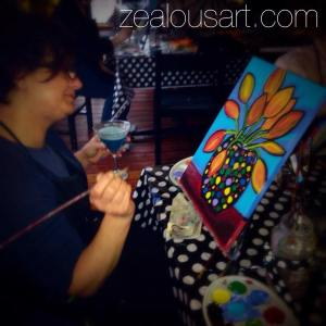 March 16 – Polka Pot- PAINT NIGHT @ THE LOFT STUDIOS