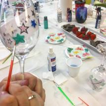 wine glass painting bc langley