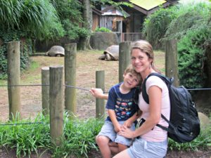 mom and Brooks at zoo
