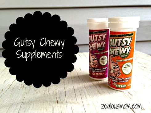 Gutsy Chewy Supplements: An all natural, gluten-free, lactose-free remedy for that yucky, refluxy feeling. @zealousmom.com