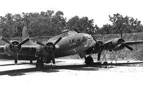 B-17 in revetment