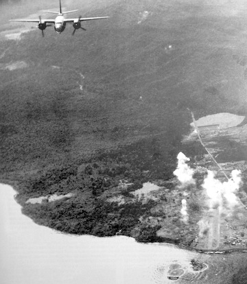 Photo of B-26s over Lae, New Guinea