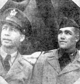 Photo of Maj Charles and Lt Durbeck