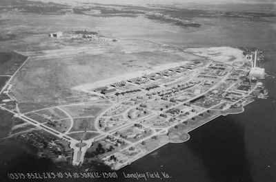 Aerial photo of Langley 1934
