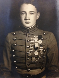 Photo of Zeamer in Culver military uniform