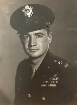 Photo of Zeamer in uniform