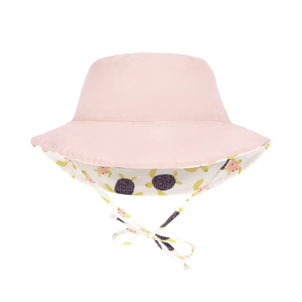 Baby bucket hat Splash & Fun - Turtles It never gets boring with this baby bucket hat - sun hat! The key feature of this colorful hat is that it is reversible, so it can be worn on both sides. The hat features a colorful design on one side and is plain colored on the other side.