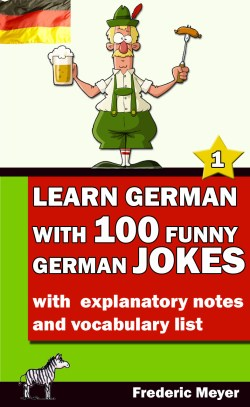 Buchcover - Learn German with 100 funny German jokes