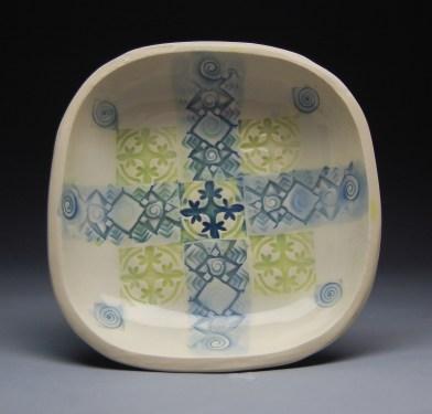 Yasenchack bowl Blue and lime
