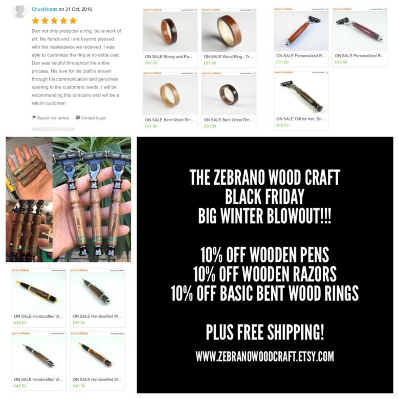 The Zebrano Wood Craft Black Friday Big Winter Blowout!