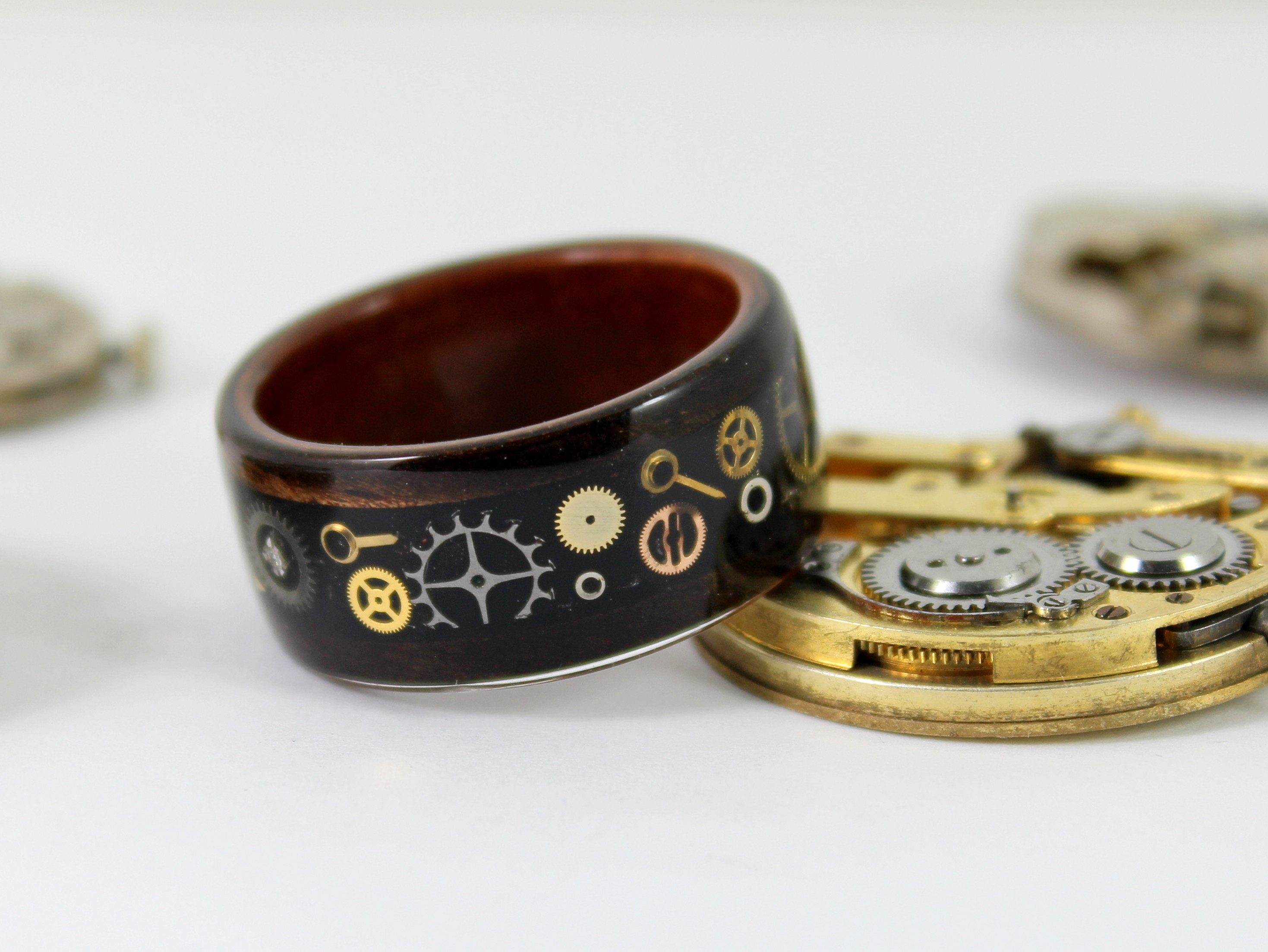 Making A Steampunk Bent Wood Ring Zebrano Wood Craft