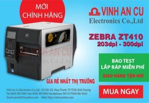 Zebra ZT410 600 dpi DT / TT Máy in nhãn công nghiệp ZT41046-T010000Z, máy in Zebra, mua máy in Zebra