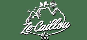 Logo blanc et noir zecaillou pour blog de voyage Réunion