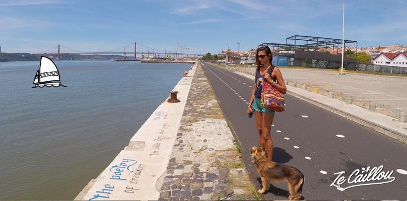 Balade à pied ou à vélo le long du Taje, les rives de Lisbonne