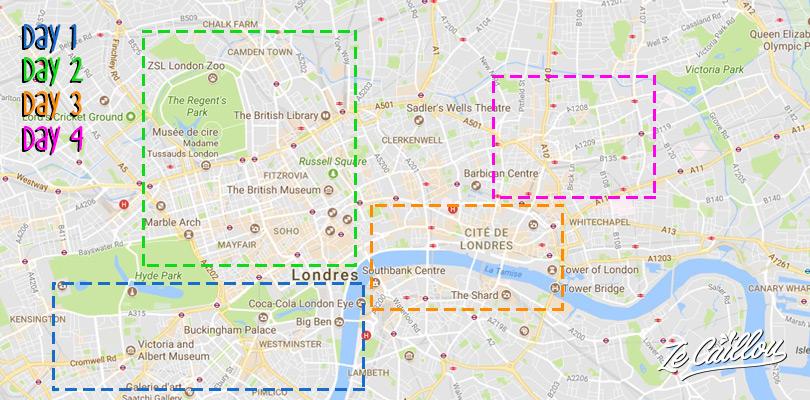 Découvrir Londres et ses quartiers en 4 jours avec le blog de voyage Ze Caillou