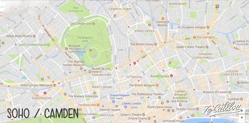 Visiter les quartiers plus cool de Londres, Soho et Camden un peu en périphérie du Londres touristique