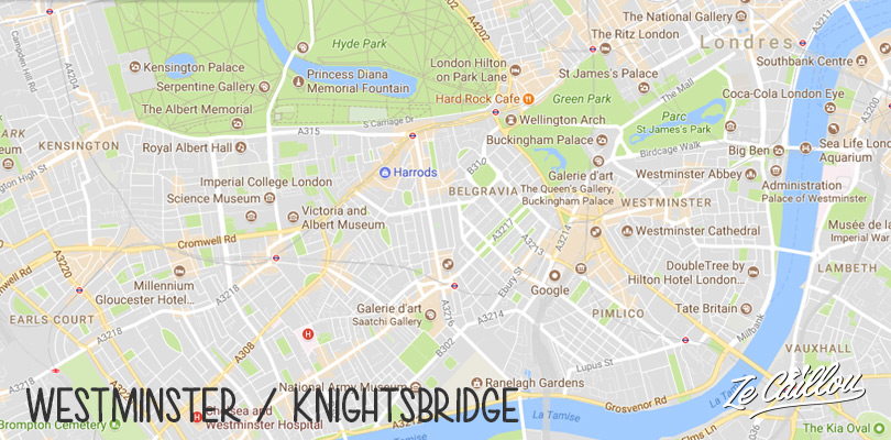 Discover the touristic London with the Westminster and Knighsbridge districts