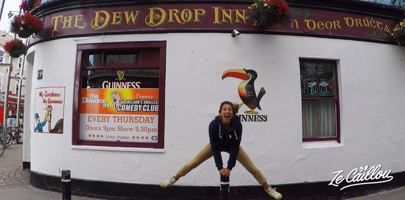 Enjoy a guinness in a irish pub in Galway town in southern ireland