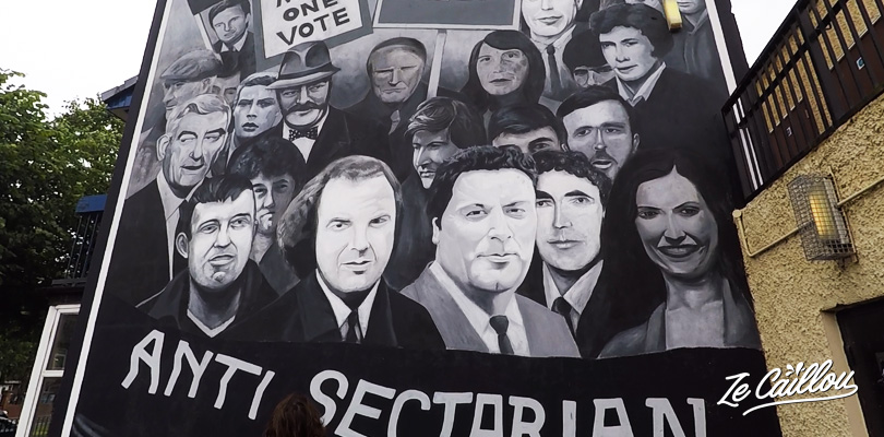 retrouvez les graffs nationalistes et indépendantistes à Derry en Irlande du Nord