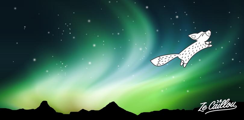 La légende du peuple Sami en Laponie, raconte que les aurores boréales sont créées par la queue d'un renard.